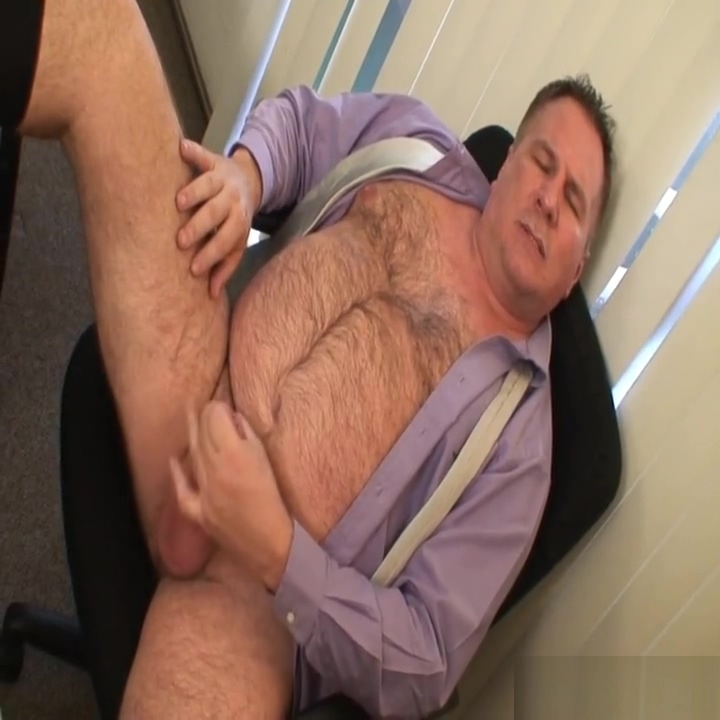 Daddy jerks off in a suit free gay masculine videos