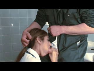 British wench Sahara Knite acquires screwed in the crapper Cum on girls clothes and face