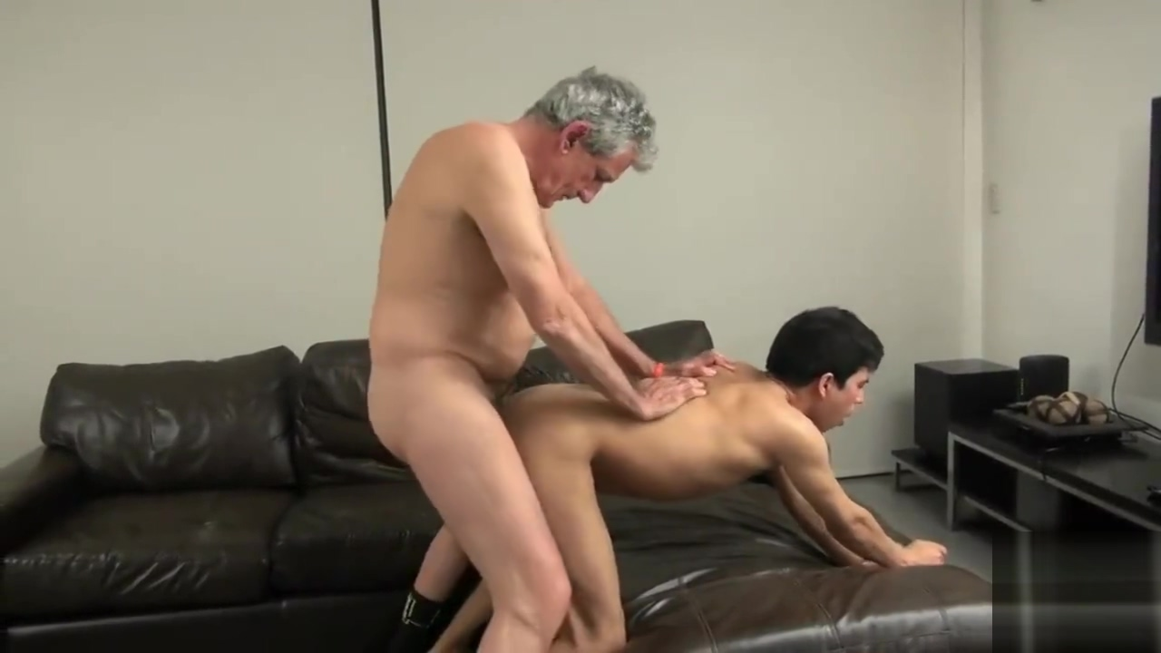 Old Grandpa pounds a twink then showers him with cum Wild gals are taking turns engulfing studs knob