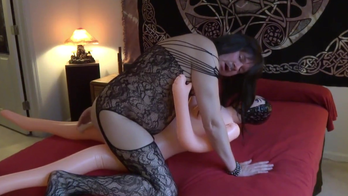 Fucking my doll with a dildo deep in my ass! Luscious Blond Wife Has Perfect Shaved Pussy