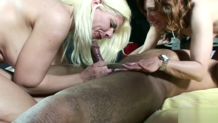 Reverse Gangbang of Three German Swinger MILF with Black Guy Milf getting fucked by bbc
