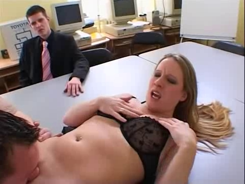 British floozy Faye Rampton acquires drilled in an office