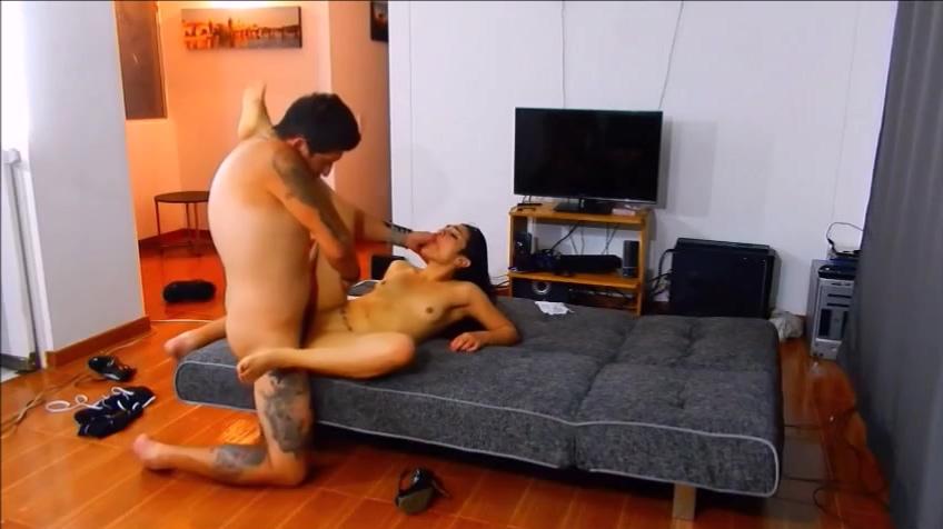 Tattooed couple hot sex on the livingroom Sluts in Pleven