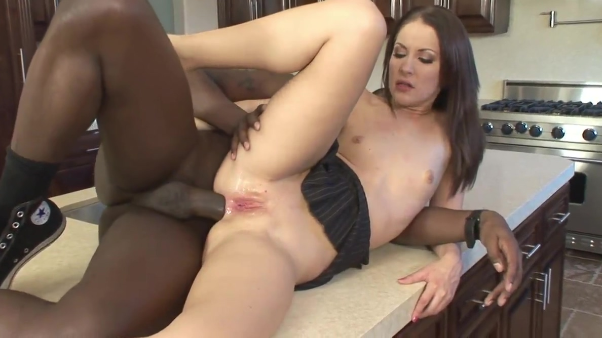 Petite brunettes cunt gets stretched by a thick black cock Big titted milf pic