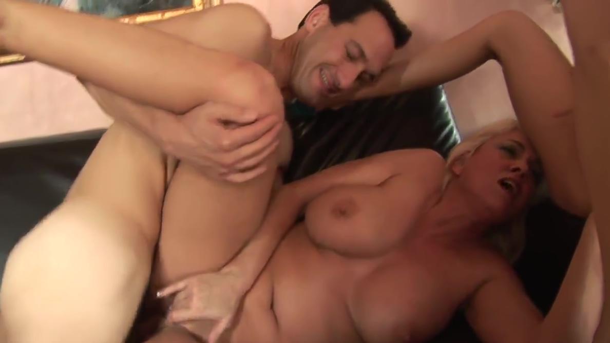 Blonde MILF sucks guys dick while brunette licks her wet cunt gay large porn tube