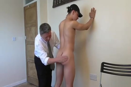 His very first spanking girl gets striped by girls naked