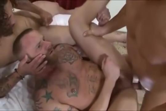 Hot bareback threesome granny and boy sex clips