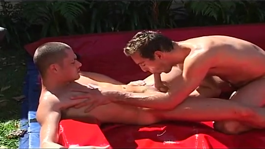Oil wrestling with sex free flexible girls getting fucked