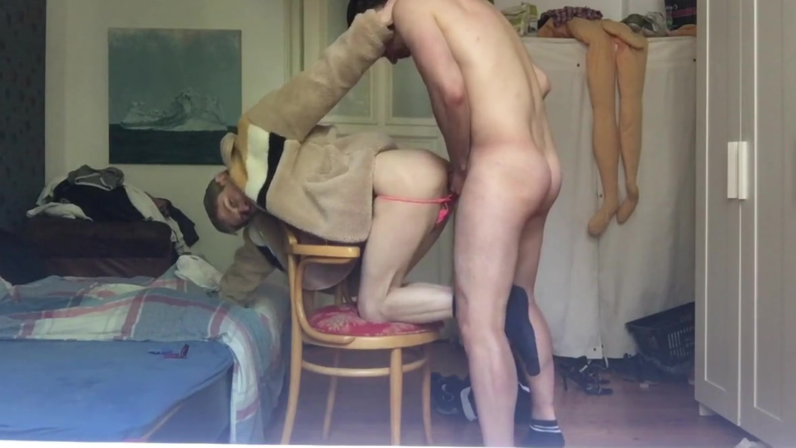 TWINK IS ALWAYS HUNGRY FOR RAW COCK Mother tied
