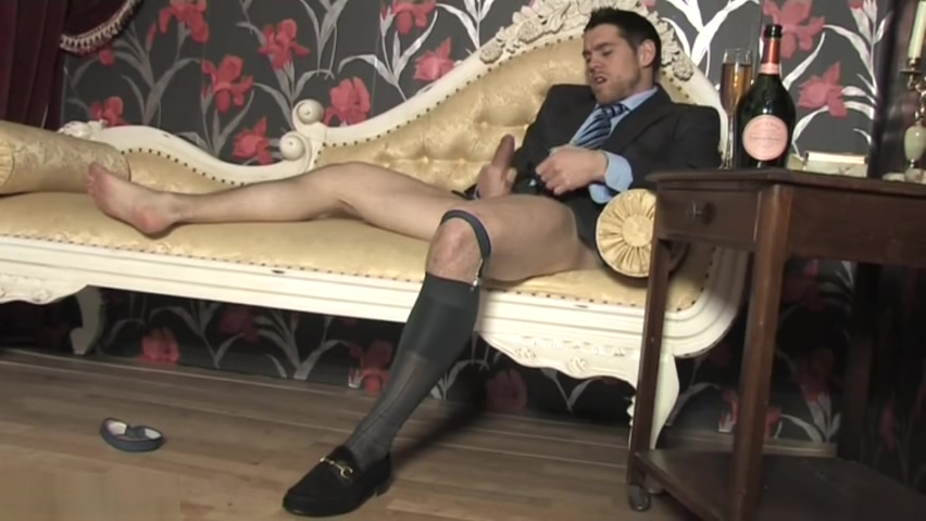 Jerk Off in Suit and Sheer Socks, Cums in Sock married ffm threesome meme xxx