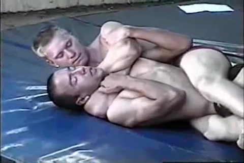 Lander vs TJ - intense hard competitive wrestle Small girl sucking balls