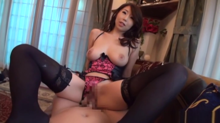 Pretty babe Shinoda Ayumi in black stockings enjoys a shag sexy swim suits and lingerie