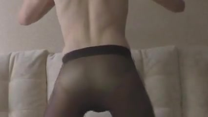 cumshot in gold panty and fatal neon tights Guy Fucks His Dads Girlfriend