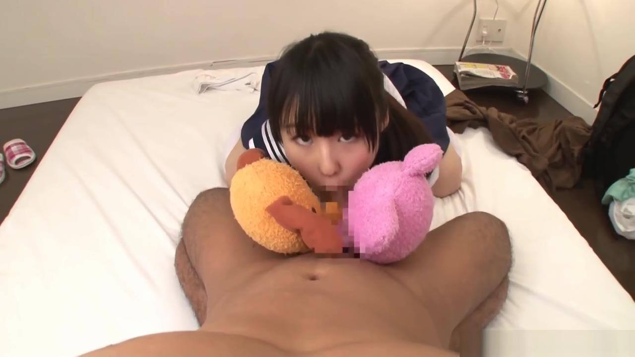 Beautiful schoolgirl Tsuchiya Asami blowing a hard stiff pole freys old time furniture