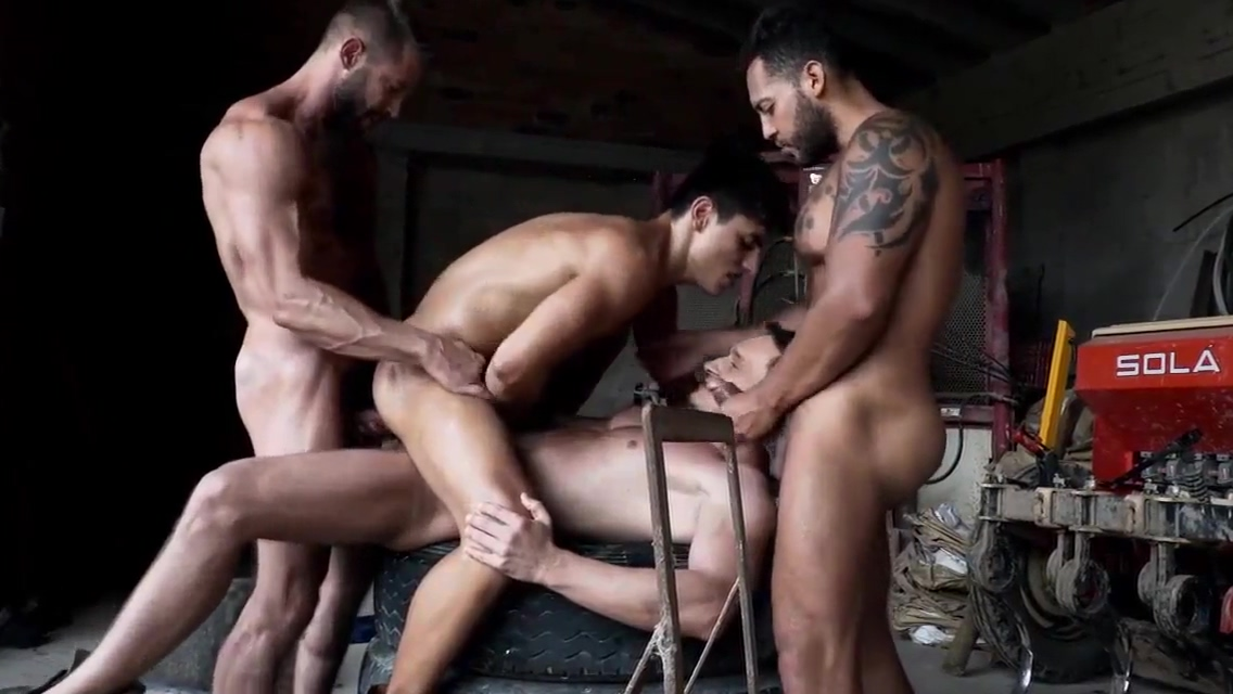 hot group gay orgy Nude struggling with their boobs