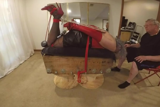 PA puts a Wicked Goat-Rope Hogtie on Ronni ... 5-19-2019 Gay seduced straight