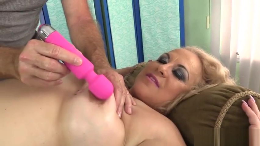 Mature Blonde Summer Stimulated with Massage and Toys till Orgasm Pretty naked pussy
