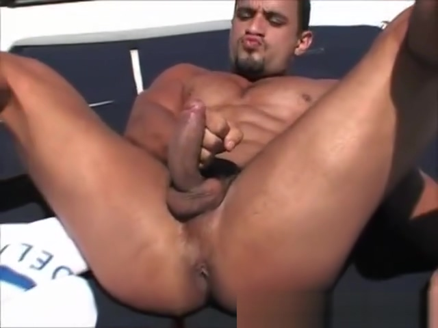 muscular latino solo on the boat Mexican lapdance