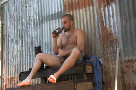 Damien rides a beer bottle Blonde rough fucked by german