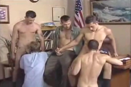 Officer Black Socks Gang Sex hard tit spank