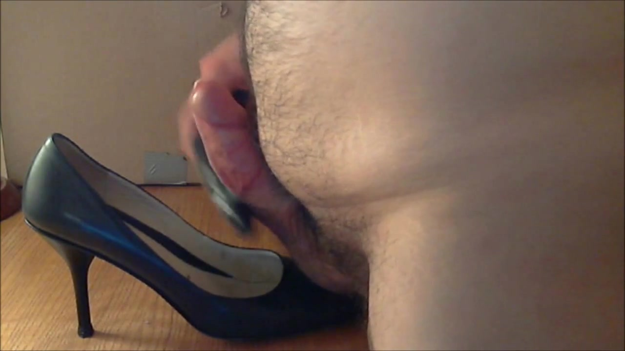 Fuck and Cum Navy Leather High Heel Shoes Girl next sex video