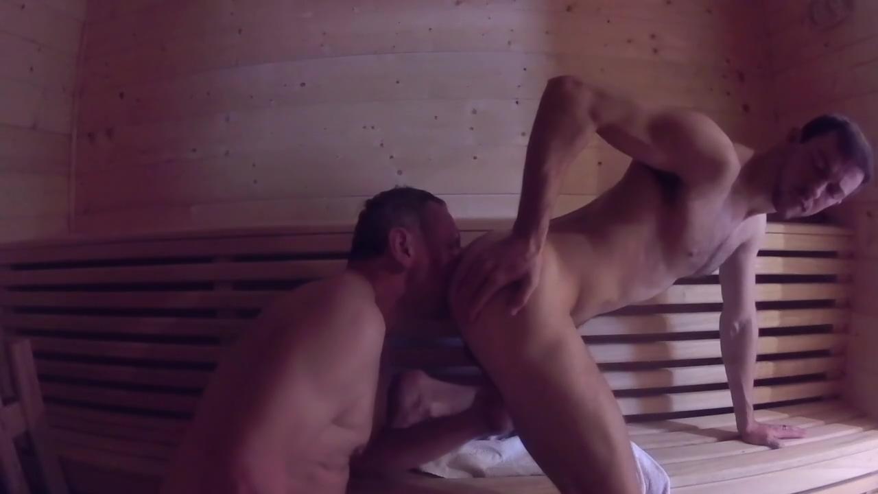 Older Younger - Daddy Fucks Boy Bareback in Sauna Meet for free sex