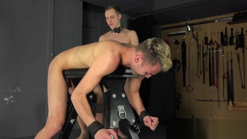 Hung Daddy Turns Straight Twink Into Bareback BDSM Master Naked having sex in toilet