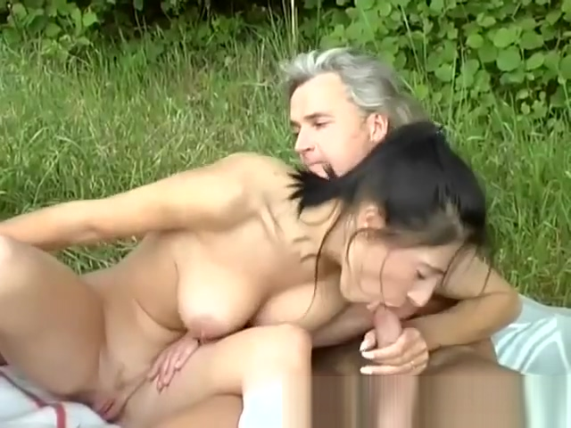 Threesome sex orgy on german street Hot big tit bbw fucked near pool