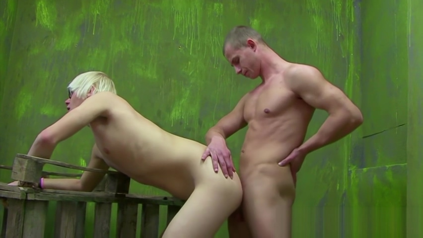 Twink gets his butt hole demolished by his assertive lover nude dog sex