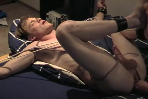 Amatuer Stud Bound Jerked Ladys Spitting Gagging And Slapping Poor Cock