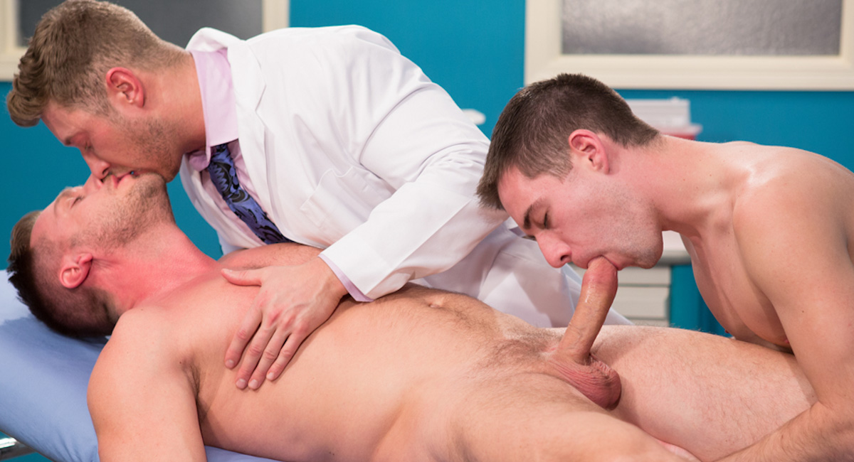 Johnny Ryder & Dylan Knight & Hans Berlin in My Doctor Rocks Video naked lesbian celebrity lovers