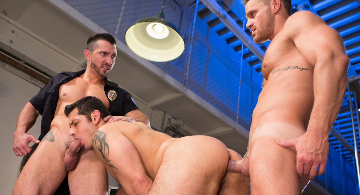 Jimmy Durano & Landon Conrad & Marcus Ruhl in Hard Time Video My Daughter Dating A Black Guy