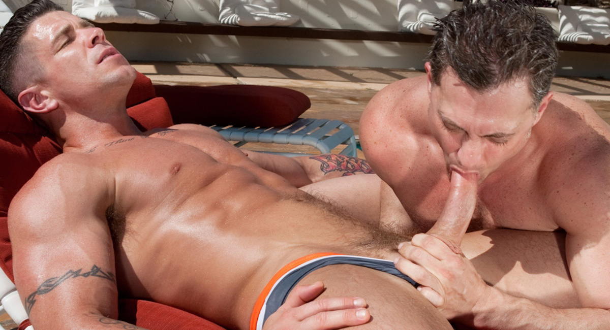 Trenton Ducati & Brenden Cage in Trunks 7 Scene Couple matching heart and key tattoo