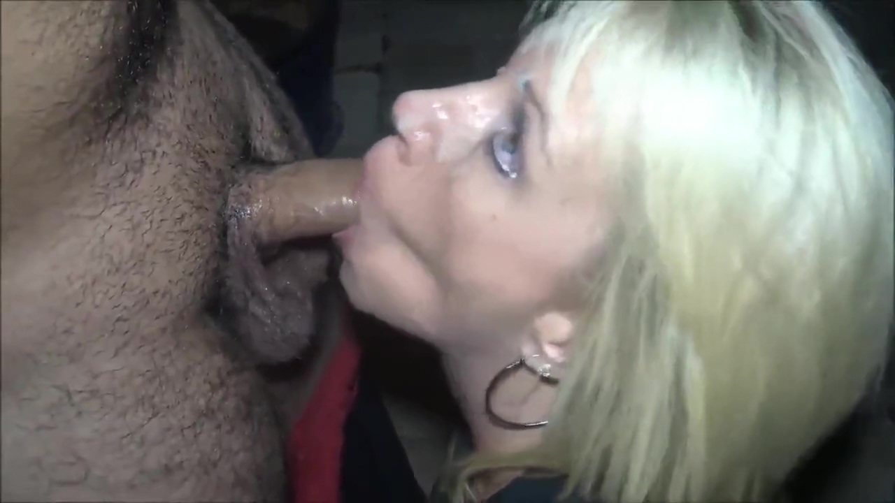 Shameless mature MILF jerking off her husband and his best friend