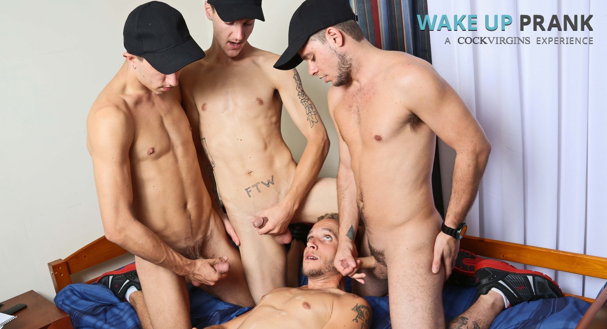 AJ Monroe & Shane Jacobs & Bobby Hudson & Leo Carden in Wake Up Prank Video naked movies on comcast free