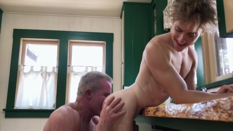 FamilyDick - Caring Stepgrandpa Fucks A Boy In The Kitchen Foot massage for sexual arousal