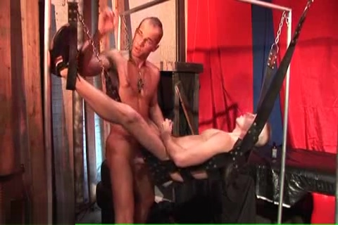Muscle Twinks bareback in the sling tag erikson
