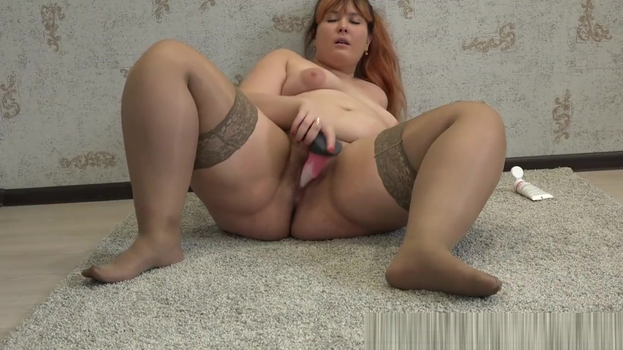 Beautiful Bbw With Hairy Pussy, Fucks His Big Butt, Rubber Dick