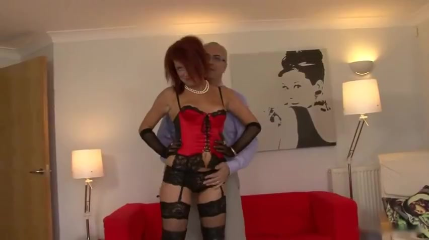 Old man and wild redhead The best shaved pussy