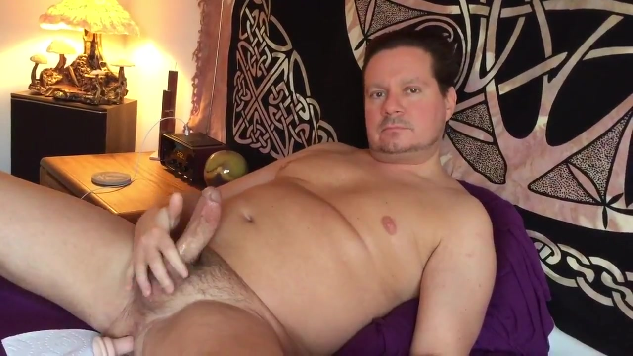 Orgasm with dildo in my ass. Big load tits