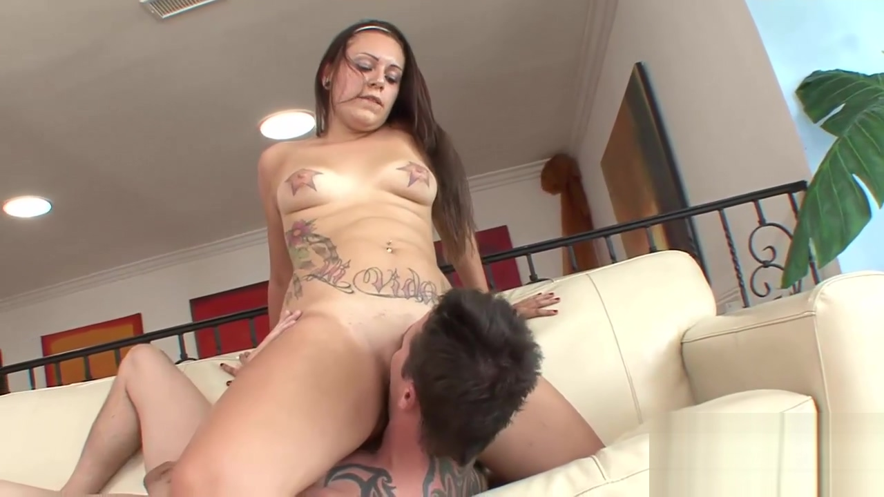 Inked Tori has her wet snatch creamed School uniform girl nude boobs