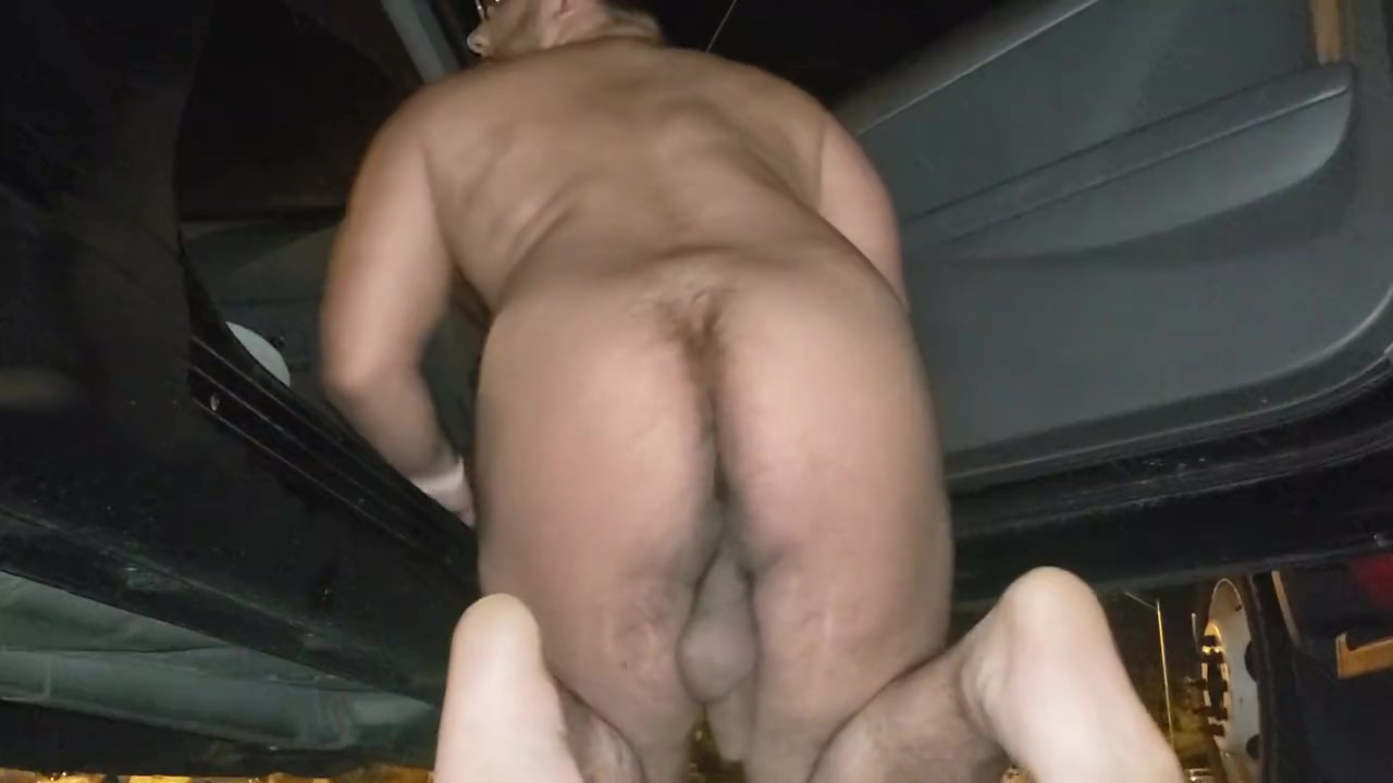 Naked at the Park n Ride extreme dildo insertion thumbs