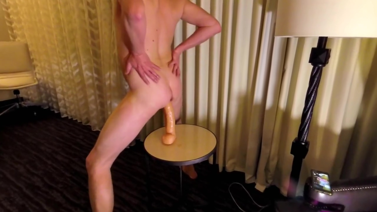 Riding my BIG Suction cup DILDO w/ My BIG HARD COCK Flopping All Around. Asa amt prepware