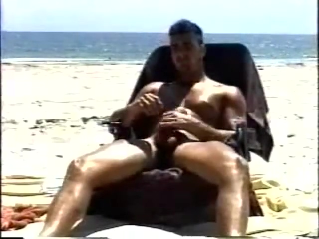 beach jerk1 Hairy slave lick penis outdoor