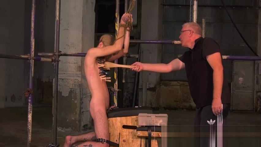 Twink slave Jacob Daniels endures his mature masters torment Leggy Emma Diamond nylon panty-hose fetish fuck