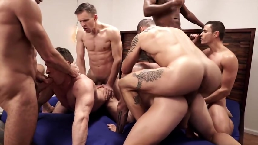 Bareback Orgy men at urinals tumblr