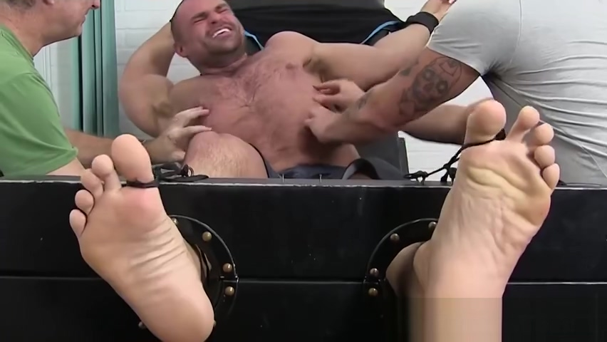 Huge muscular gay tickled while being bound by mature master Extreme double fisting orgasms