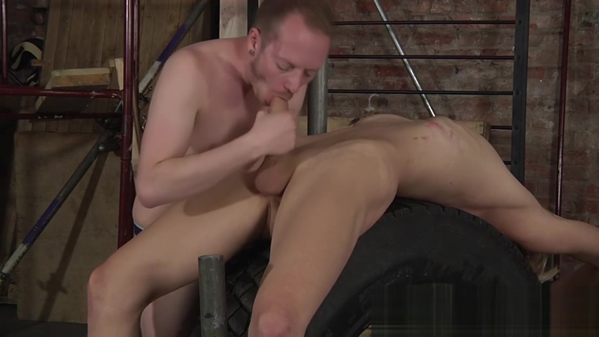 Kinky young master Sean Taylor throat fucks his bound slave pornstars humiliated by cumshot