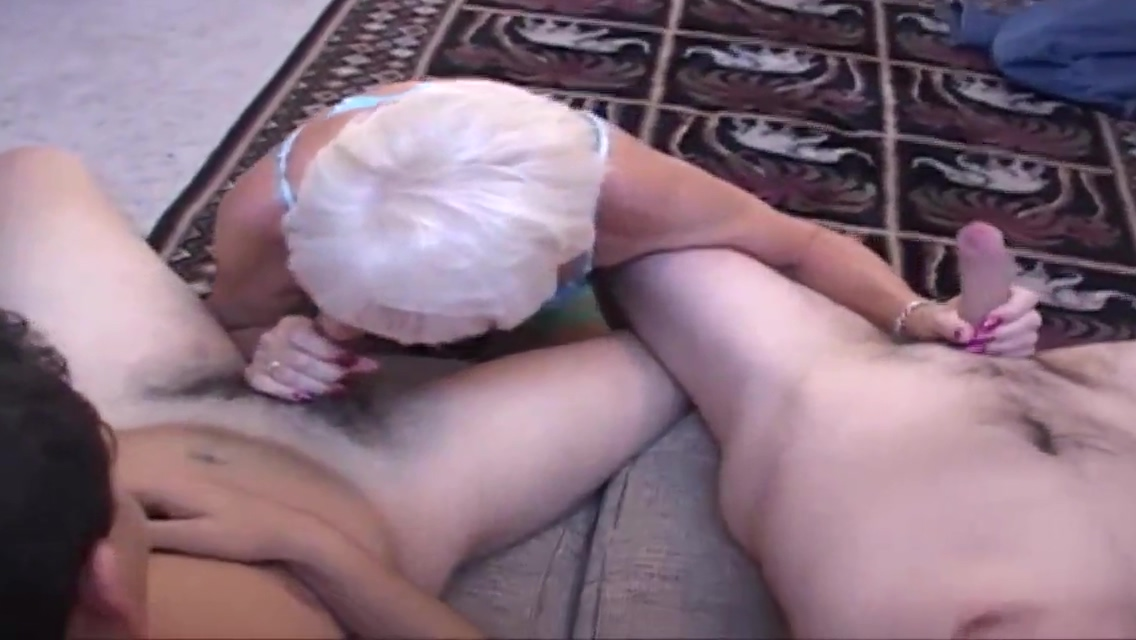Horny Grandma Plays with Multiple Cocks Peeing pubics shaved womens