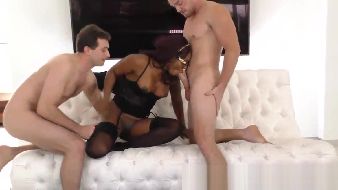 Stockinged black ho rides